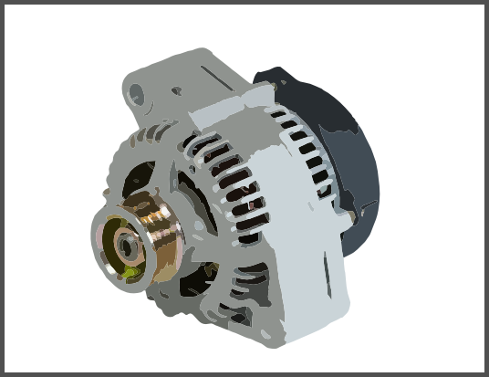 alternator with run down protection